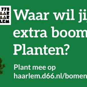 Waar wil jij een extra boom planten